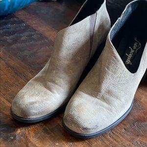Free People Terrah grey leather booties
